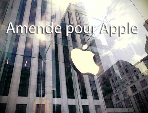 Amende pour Apple en mars 2020
