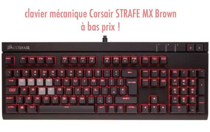 clavier mécanique Corsair STRAFE MX Brown