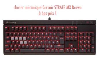 le clavier mécanique Corsair STRAFE MX Brown