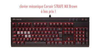 Une réduction intéressante sur le clavier mécanique Corsair STRAFE MX Brown